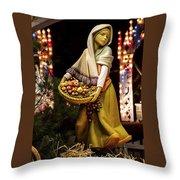 Woman Bearing Gifts For Jesus Our Savior Throw Pillow