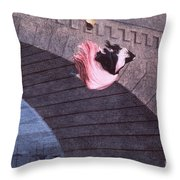 Woman Committing Suicide By Jumping Off Of A Bridge Throw Pillow