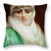 Woman From Constantinople Throw Pillow