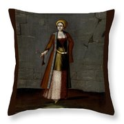 Woman From Tinos Throw Pillow