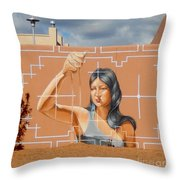 Woman Holding The Sands Of Time Throw Pillow