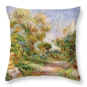 Woman In A Landscape Throw Pillow