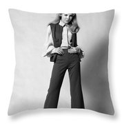 Woman In A Pantsuit, C.1960-70s Throw Pillow