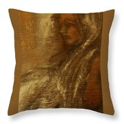 Woman In Head-dress-also At Big.fishery.webs.com Throw Pillow