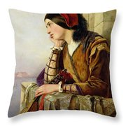 Woman In Love Throw Pillow by Henry Nelson O Neil