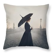 Woman In Mourning Throw Pillow