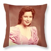 Woman In Pink Throw Pillow