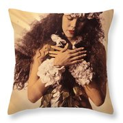 Woman In Pose Throw Pillow