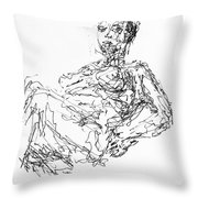 Woman In Repose 4483 Throw Pillow