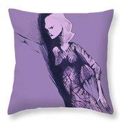 Woman In Shadows Throw Pillow