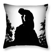 Woman In Thought Throw Pillow