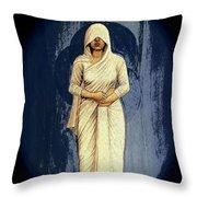 Woman In White - Widow Throw Pillow