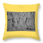 Woman Moving Throw Pillow