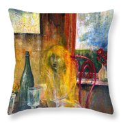 Woman Near Window  Throw Pillow