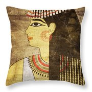 Woman Of Ancient Egypt Throw Pillow