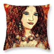 Woman Of Desire Throw Pillow