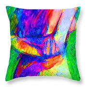 Woman Of Earth Throw Pillow