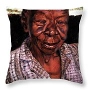 Woman Of Faith Throw Pillow
