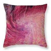 Woman Of Fire Throw Pillow