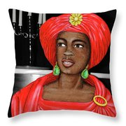 Woman Of The Candelabra Throw Pillow