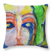 Woman Of The Trees Throw Pillow