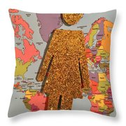 Woman Of The World Throw Pillow