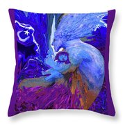 Woman On The Brink Of Civilization Throw Pillow