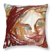Woman Out Of Present Time Throw Pillow