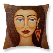 Woman S Market Throw Pillow