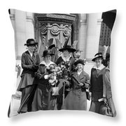 Woman Suffrage - Political Campaign Rose Winslow - Lucy Burns - Doris Stevens - Ruth Astor Noyes Etc Throw Pillow