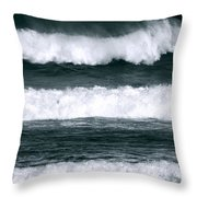 Woman Surfer Throw Pillow