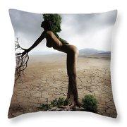 Woman Tree Art Throw Pillow