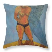 Woman V  Throw Pillow
