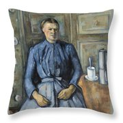 Woman With A Coffeepot  Throw Pillow