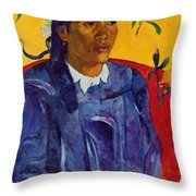 Woman With A Flower 1891 Throw Pillow
