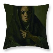 Woman With A Mourning Shawl Nuenen, March - May 1885 Vincent Van Gogh 1853 - 1890 Throw Pillow