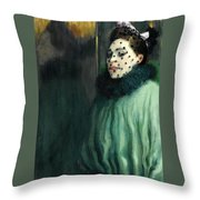Woman With A Veil Throw Pillow