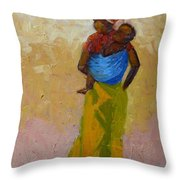 Woman With Baby Throw Pillow