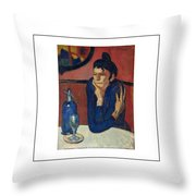 Woman With Coffee Femme Au Cafe Throw Pillow