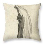 Woman With Long Veil Throw Pillow