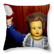 Woman With Tambourine Throw Pillow
