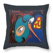 Woman12 Throw Pillow