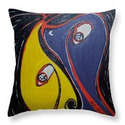 Woman21 Throw Pillow