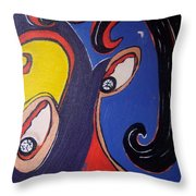 Woman30 Throw Pillow