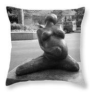 Womans Torso Sculpture Grand Junction Co Throw Pillow