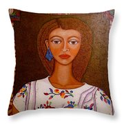 Women Below And Beyond The Sea Throw Pillow