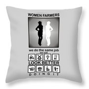 Women Farmers Throw Pillow