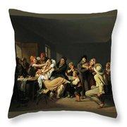 Women Fighting  Throw Pillow