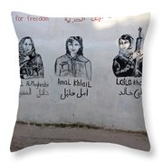 Women For Freedom Throw Pillow