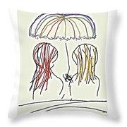 Women Hoping For Rain 2 Throw Pillow